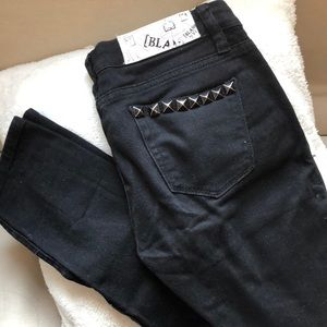 Blank NYC Black Studded Jeans 25